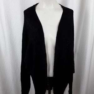 Wet Seal Womens Crocheted Back Cardigan Size Small